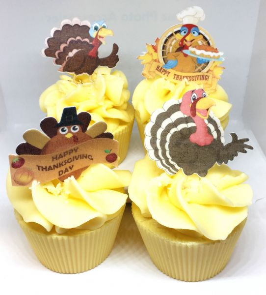 Thanksgiving Edible cake toppers